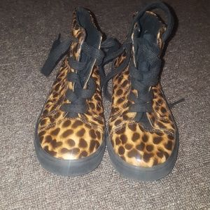 Other - Cheetah print high top Sneakers
